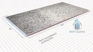 лист оцинкованный 3 мм